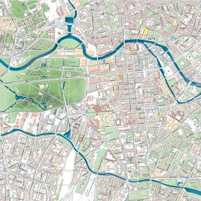 Reliefkarte Berlin