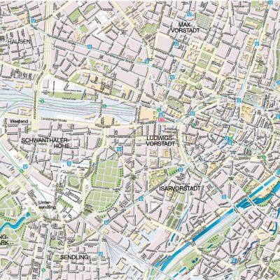 Reliefkarte München Innenstadt